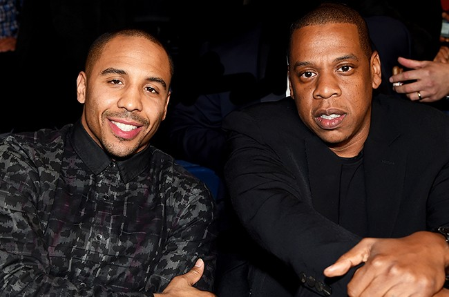 Andre Ward and Jay-Z attend as Roc Nation Sports Presents: throne boxing
