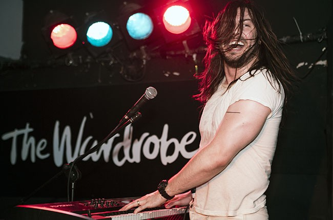 Andrew W.K. performs on stage at The Wardrobe