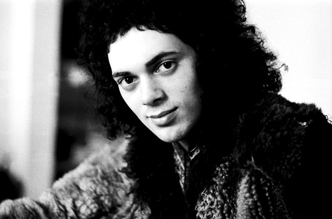 Andy Fraser of free photographed in London on February 24, 1975.