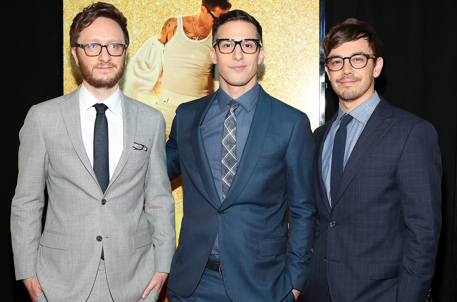 Lonely Island at the premiere of Popstar: Never Stop Never Stopping