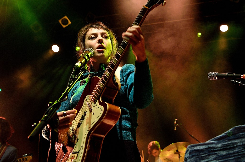 Angel Olsen performs on stage at Koko on Oct. 17, 2016 in London, England.