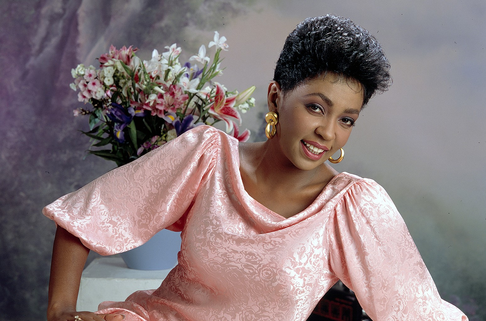 Anita Baker photographed in the 1980s.