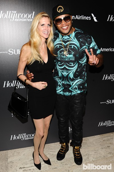 Ann Coulter and Flo Rida attend The 35 Most Powerful People in Media hosted by The Hollywood Reporter