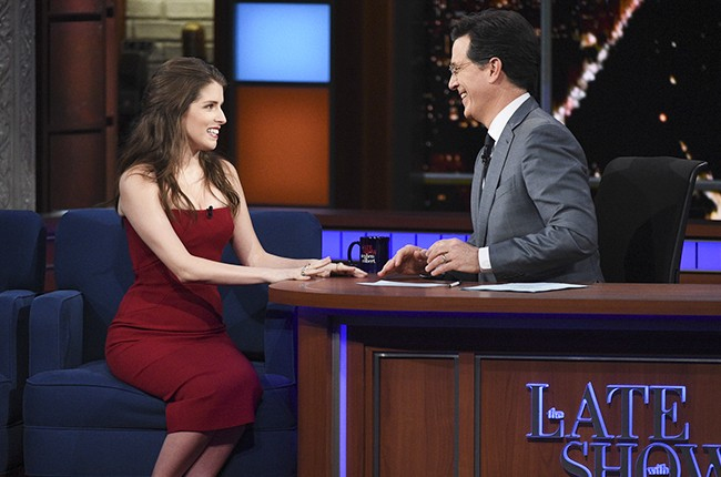 Anna Kendrick The Late Show with Stephen Colbert 2016