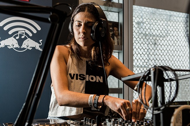 Anna Lunoe is interviewed, and performs a mini set, in the Red Bull Music Academy pop-up radio station, at Red Bull Guest House in Miami