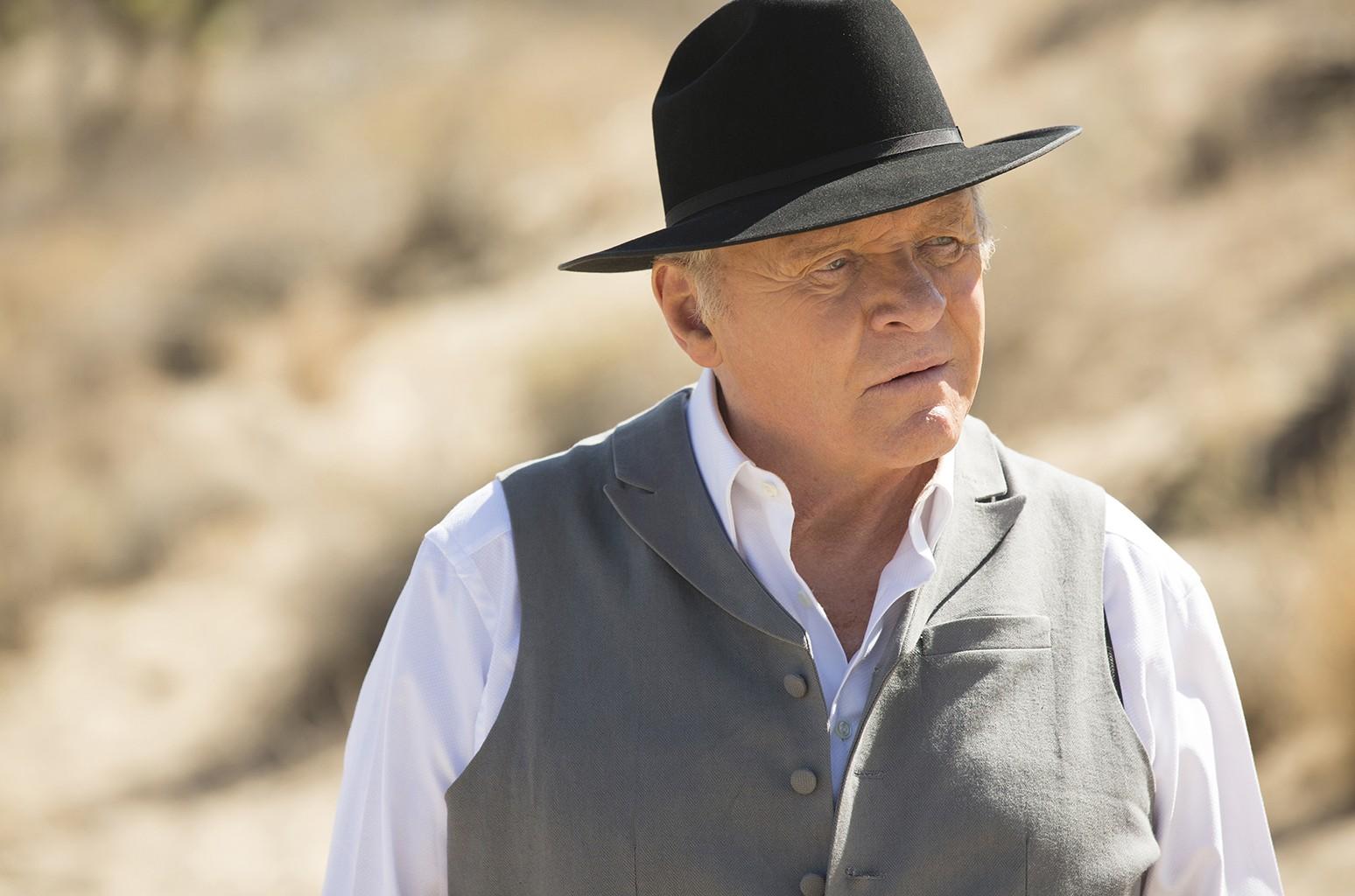 Anthony Hopkins in Westworld.