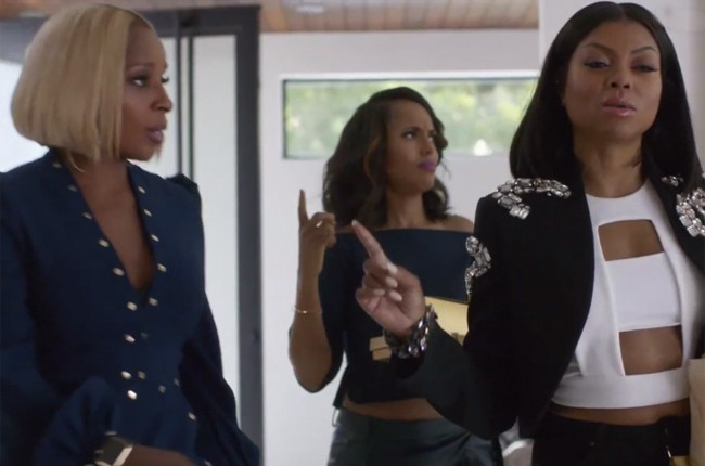 Mary J. Blige, Kerry Washington and Taraji P. Henson in a commercial for Apple Music.
