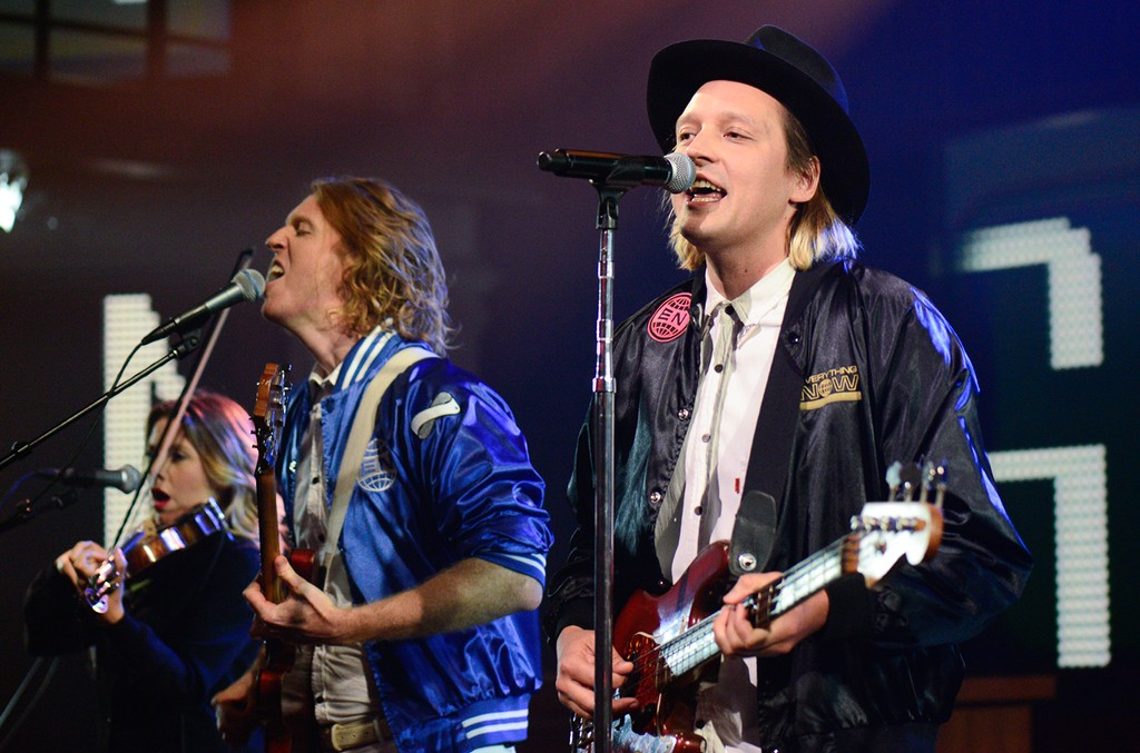 Arcade Fire perform on The Late Show with Stephen Colbert