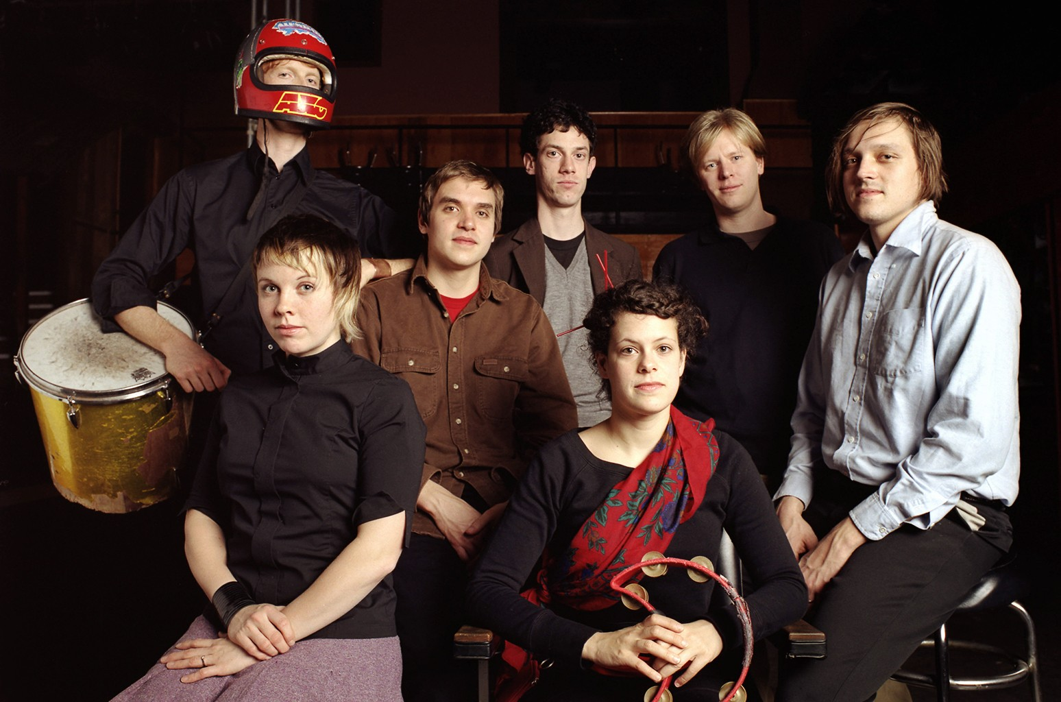 Arcade Fire photographed in 2005.