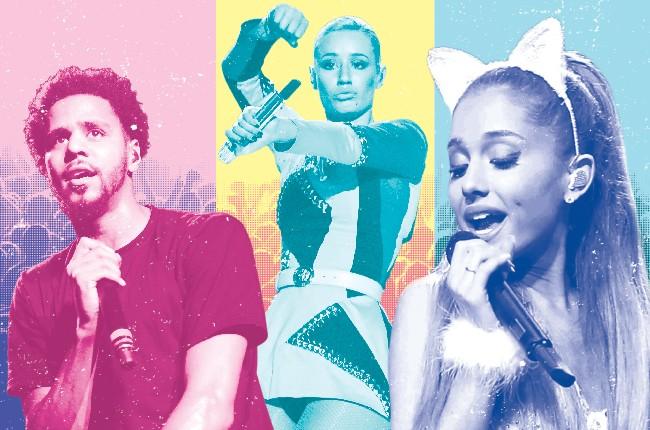 Arena tours in 2015 featuring J. Cole, iggy Azalea and Ariana Grande.