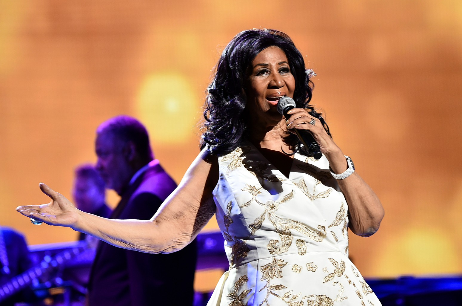 Aretha Franklin performs during the 2017 Tribeca Film Festival at Radio City Music Hall on April 19, 2017 in New York City.