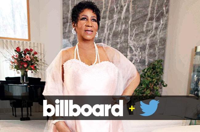 Billboard+Twitter Trending 140 Chart: Aretha Franklin