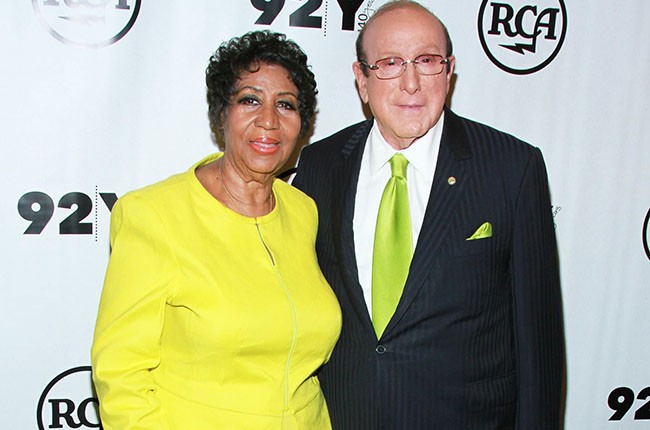Aretha Franklin and Clive Davis, 2014.