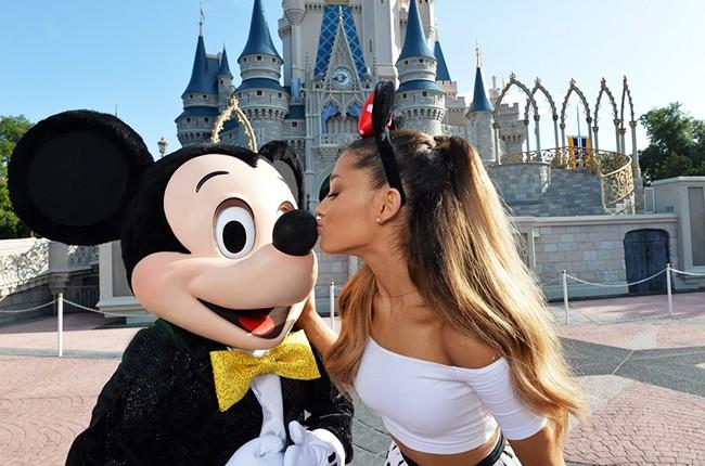 Ariana Grande with Mickey at Disney on 21st Birthday