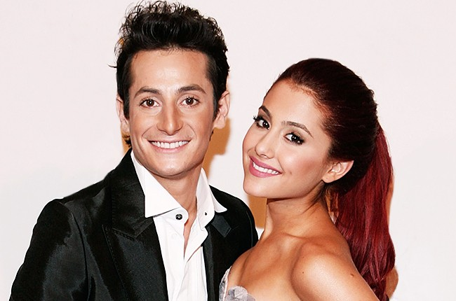 Ariana Grande and her brother Frankie