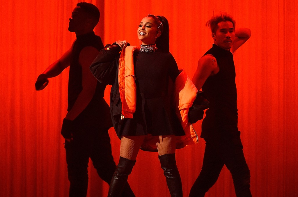 Ariana Grande performs onstage during her 'Dangerous Woman' tour at Madison Square Garden on Feb. 23, 2017 in New York City.