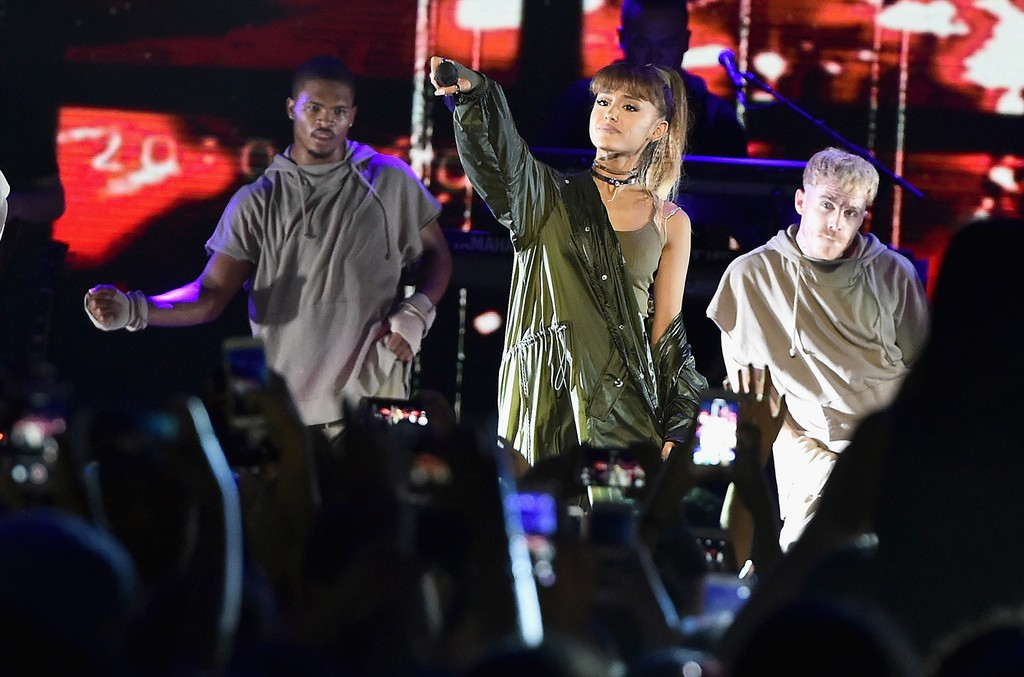 Ariana Grande performs onstage during the 2016 Billboard Hot 100 Festival
