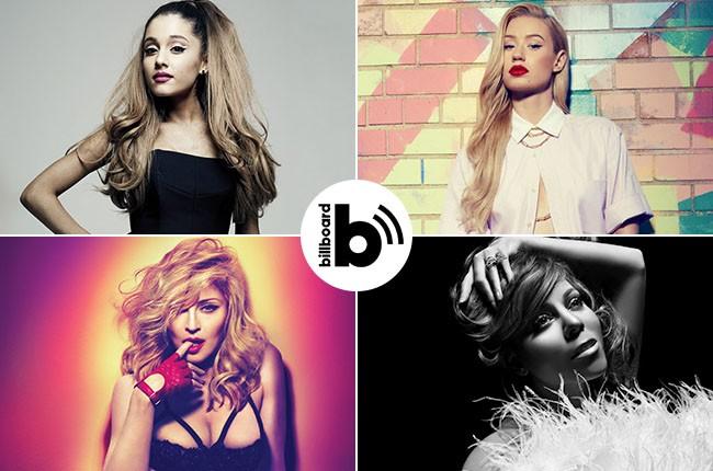 Pop Shop Podcast featuring Ariana Grande, Iggy Azalea, Madonna and Mariah Carey, 2014.
