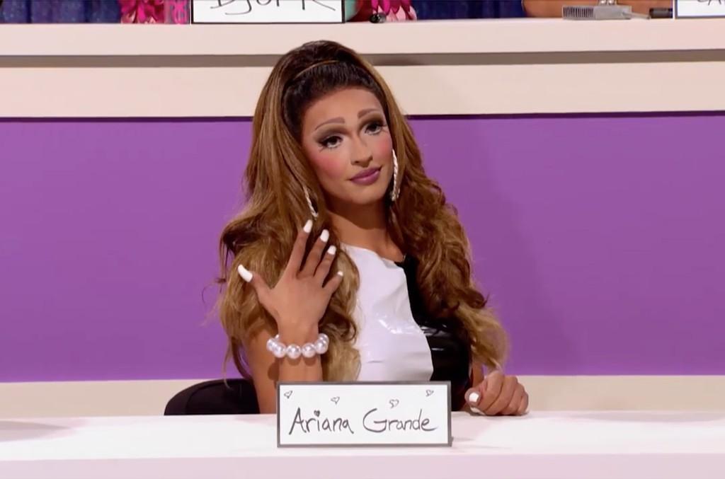 Tatianna as Ariana Grande on RuPaul's Drag Race.