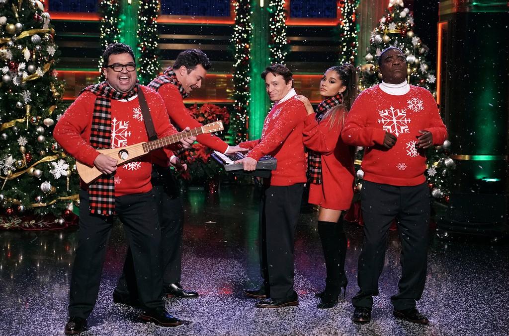 Horatio Sanz, Jimmy Fallon, Chris Kattan, Ariana Grande and Tracy Morgan
