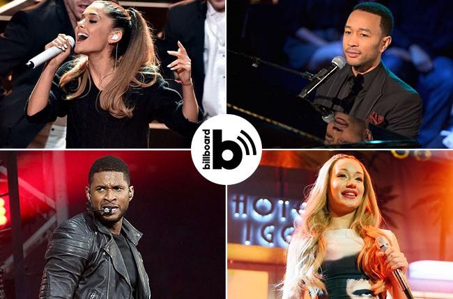 Ariana Grande, John Legend, Iggy Azalea, Usher