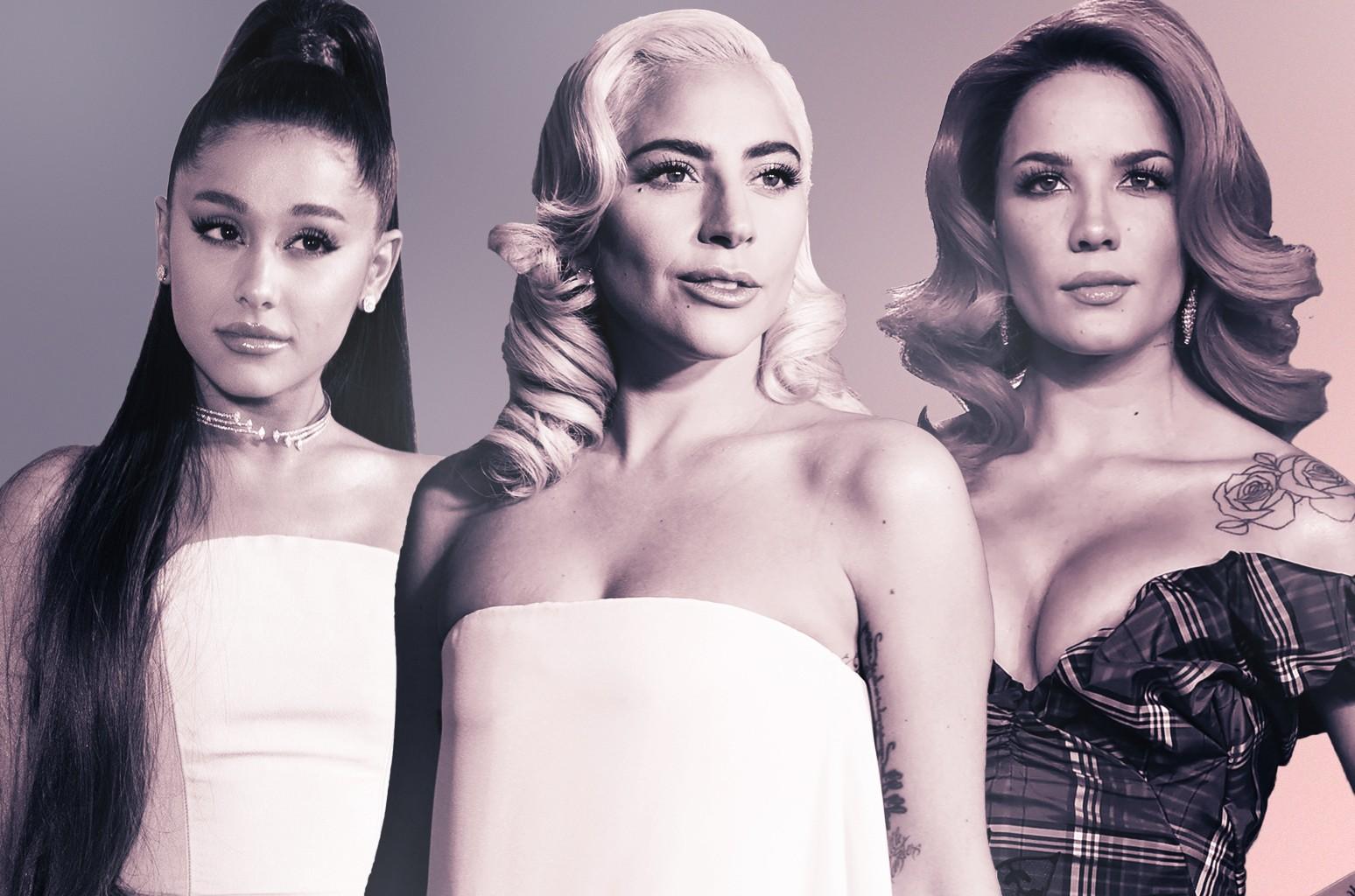 Ariana Grande Lady Gaga Halsey