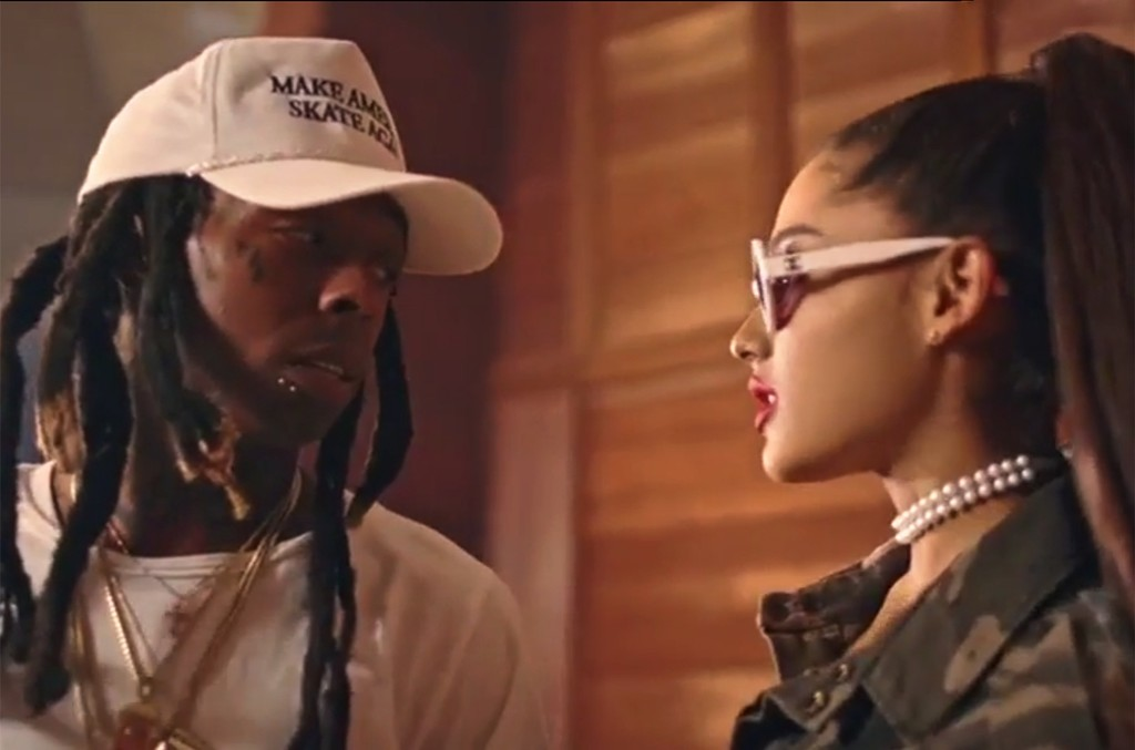Lil Wayne and Ariana Grande in the video for Let Me Love You