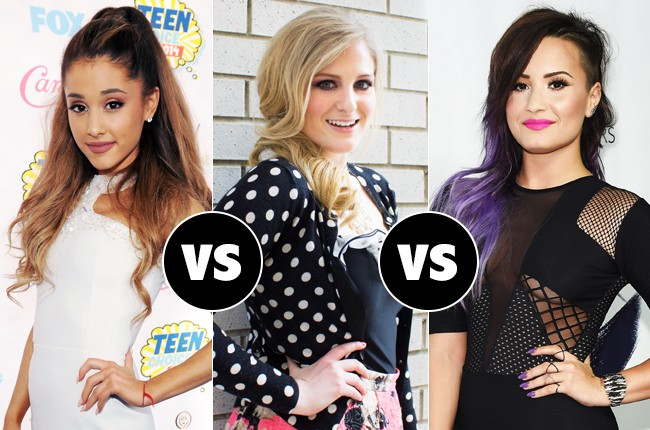 Ariana Grande vs Meghan Trainor vs Demi Lovato