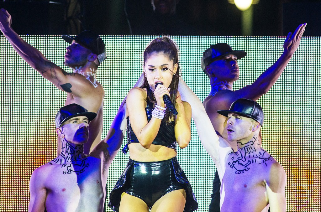 Ariana Grande performs at the 27th annual NYC Pride: Dance On The Pier at Pier 26 on June 28, 2015 in New York City.