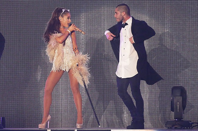 Ariana Grande and Ricky Alvarez