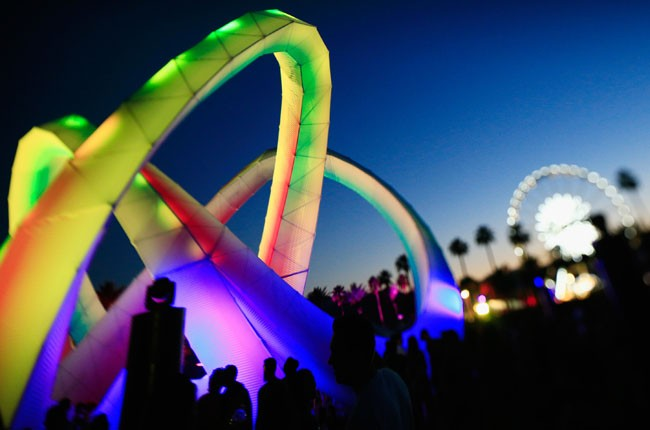 Lightweaver art installation by Alexis Rochas is seen during day 1 of 2014 Coachella
