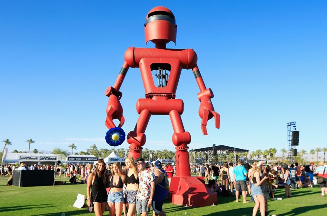 Becoming Human art installation by Christian Ristow is seen during day 1 of 2014 Coachella