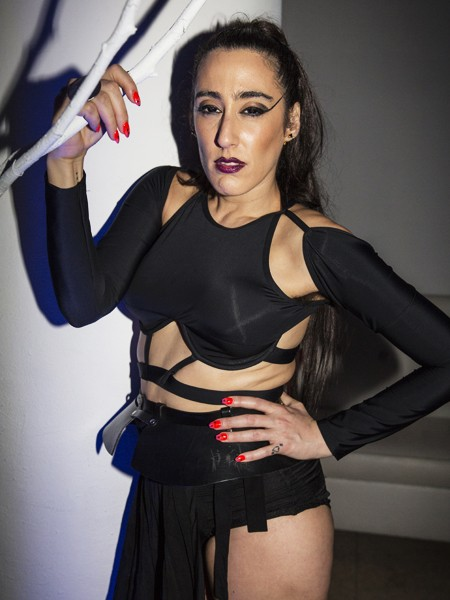 Artist Ladyfag poses for a portrait at the first breakfast party at Red Bull Guest House