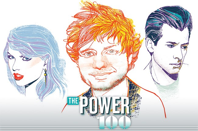 Taylor Swift, Ed Sheeran, Mark Ronson and more on Power 100 honorees.