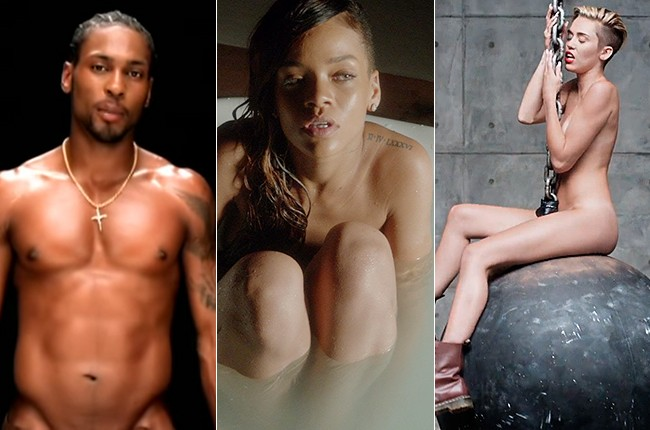 21 Artists Who've Stripped Down for Music Videos -- From Miley to Bowie