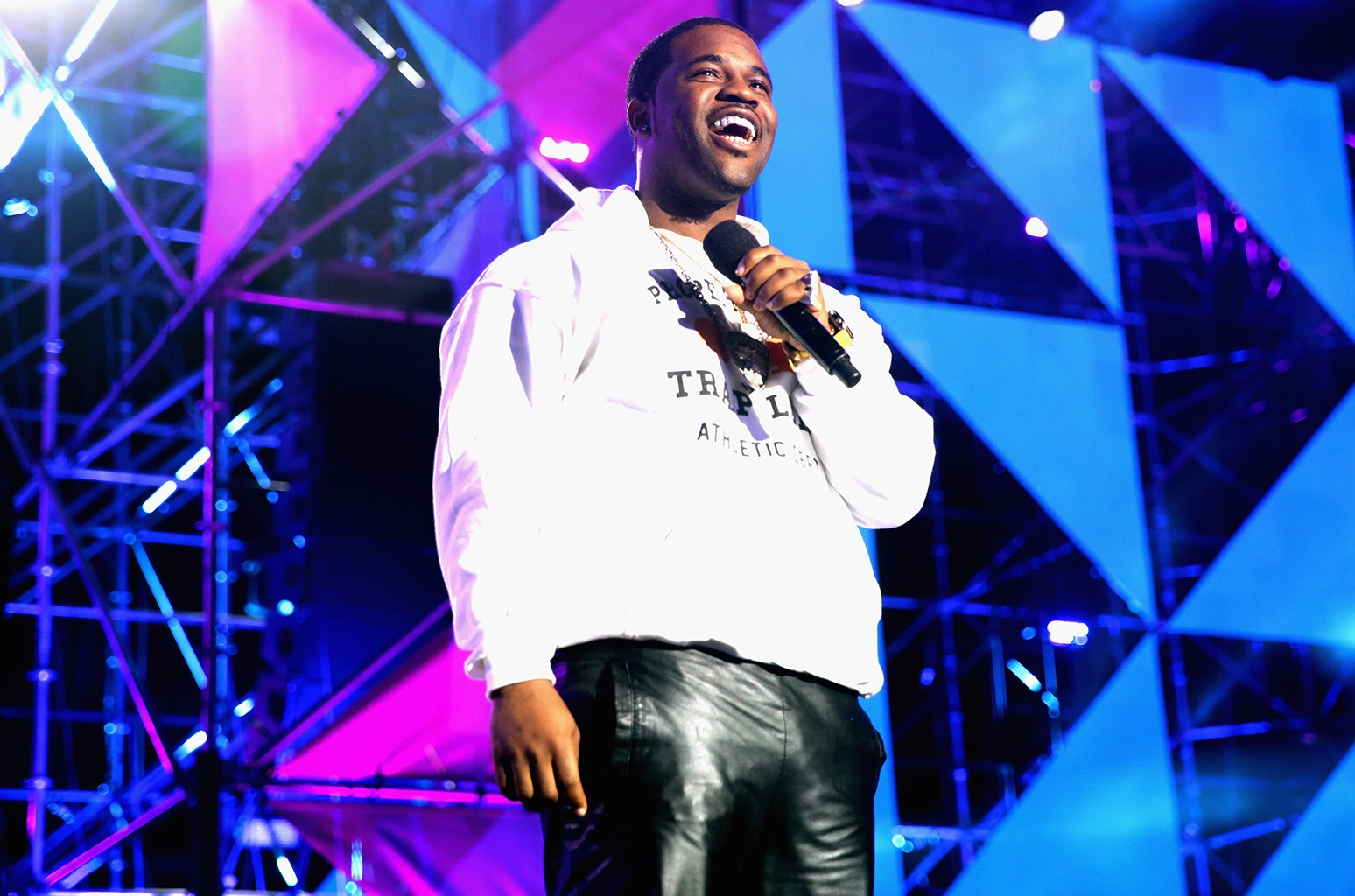 A$AP Ferg speaks at the MTV Woodies on March 16, 2017 in Austin, Texas.