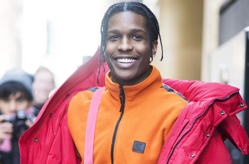 A$AP Rocky after the Calvin Klein show on Feb. 10, 2017 in New York City.