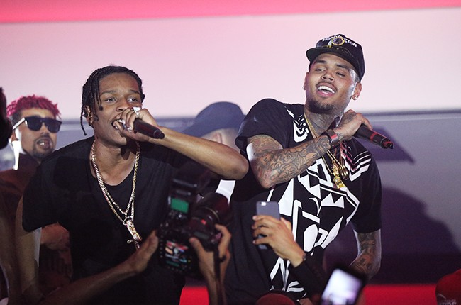 A$AP Rocky and Chris Brown