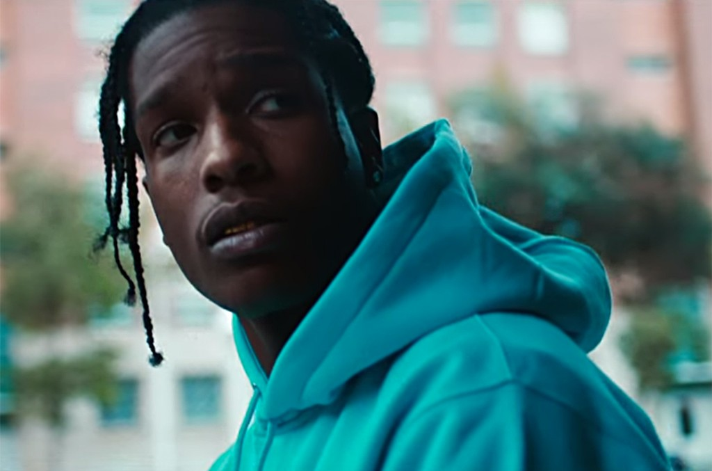 "Video still of A$AP Rocky from the Mercedes-Benz campaign, Grow up: ""Get a job"""