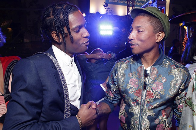 A$AP Rocky and Pharrell Williams