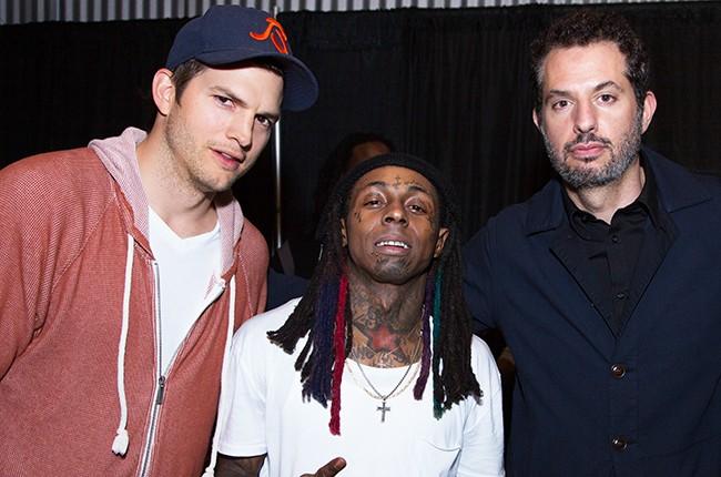 Ashton Kutcher, Lil Wayne and Guy Oseary