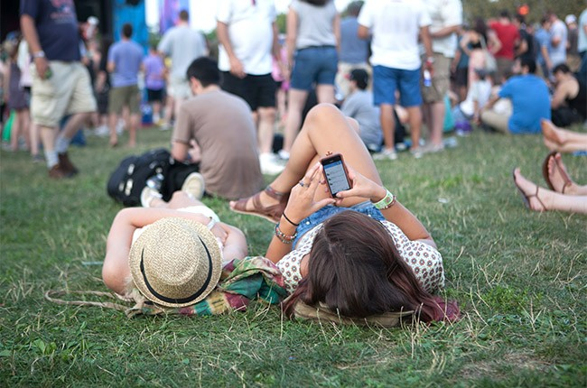 A general view of Lollapalooza 2014