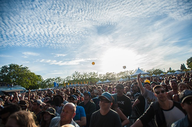 Audience members at the 2015 BottleRock Napa Valley Music Festival