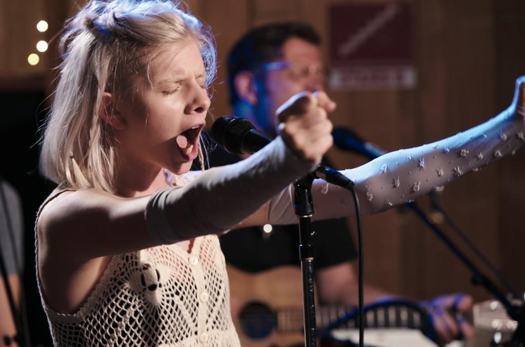 Video still of Aurora in 'Unsupervised.'