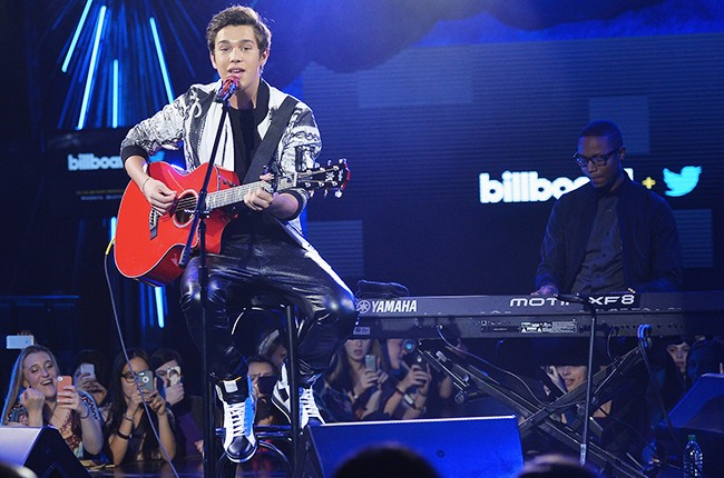 Austin Mahone performs at the Billboard Twitter Real-Time Charts Launch