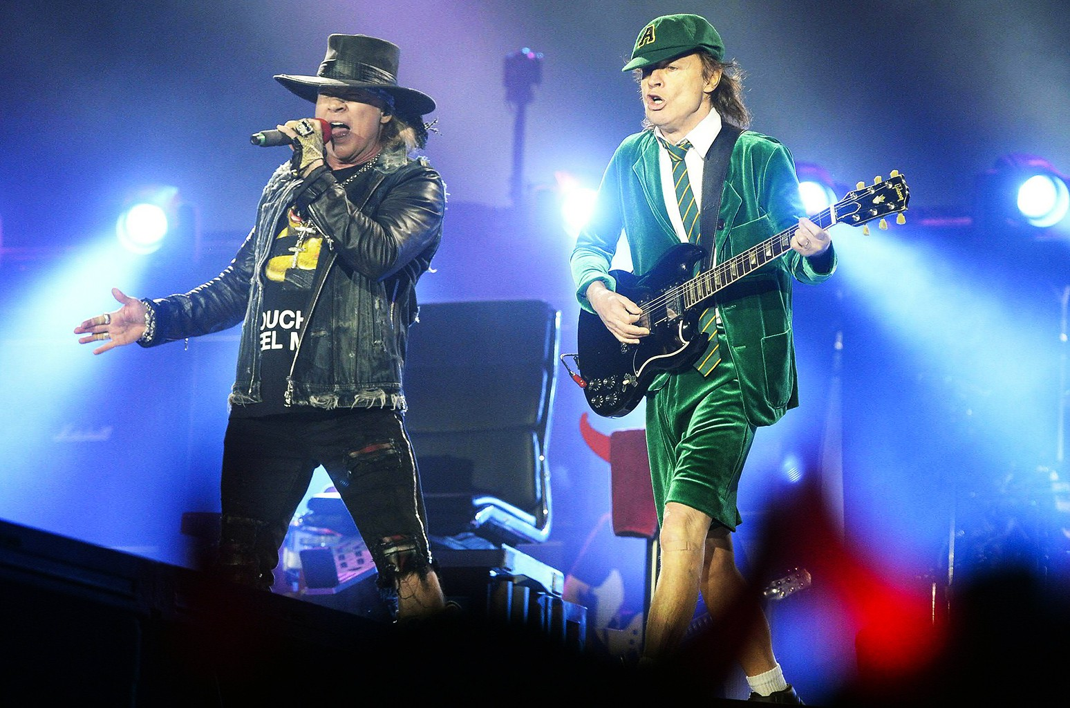 Axl Rose and AC/DC perform in 2016