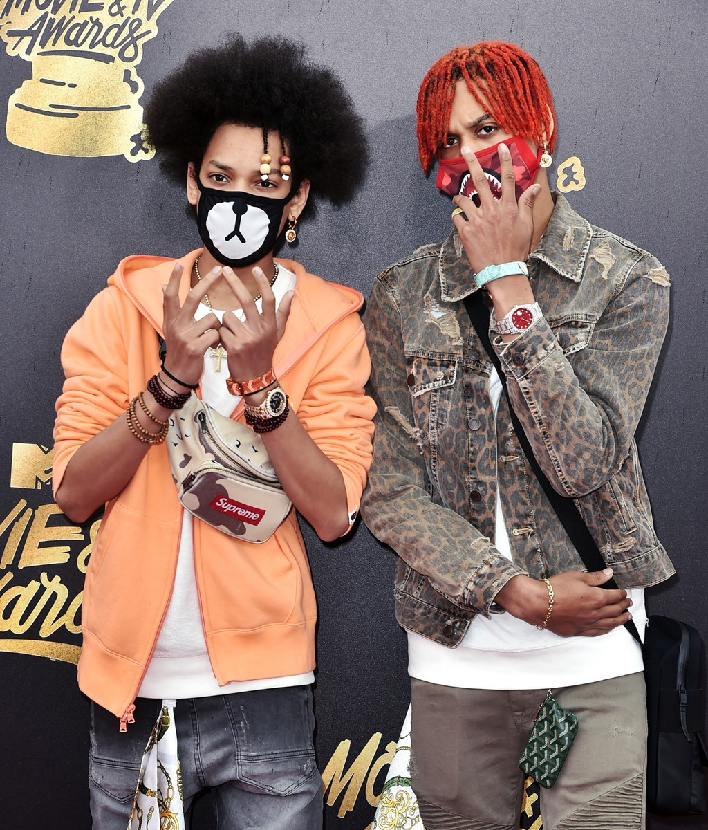Ayo & Teo attend the 2017 MTV Movie and TV Awards at The Shrine Auditorium on May 7, 2017 in Los Angeles.