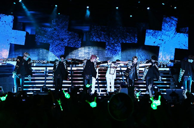 B.A.P performing in New York City, 2014