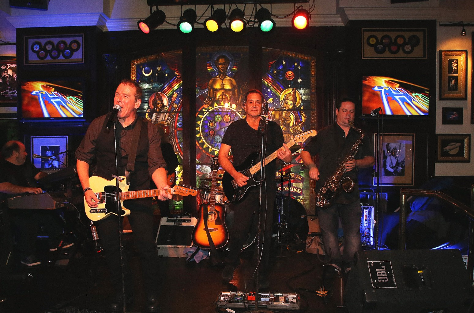 The B Street Band performs at the Hard Rock Cafe's 20th Anniversary bash on Nov. 15, 2016, in Atlantic City, NJ.