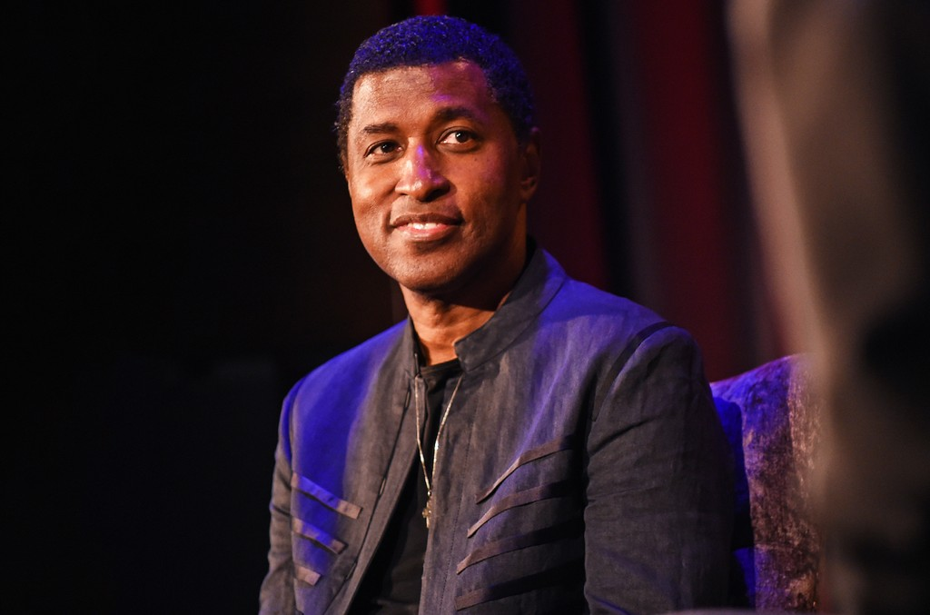 Kenneth 'Babyface' Edmonds speaks at Icons of the Music Industry at The Grammy Museum on Feb. 9, 2016 in Los Angeles.